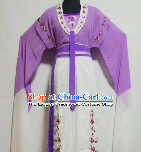 Traditional Chinese Beijing Opera Actress Costume Ancient Nobility Lady Purple Dress for Women