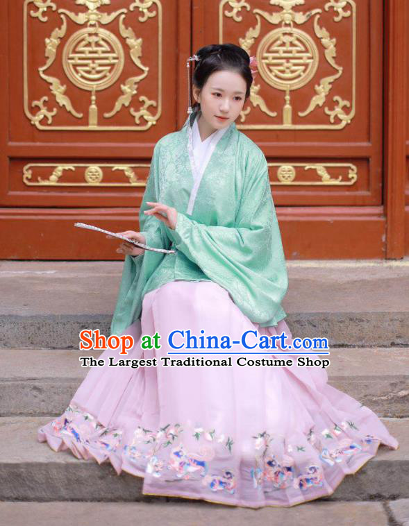 Chinese Traditional Ming Dynasty Aristocratic Lady Historical Costume Ancient Princess Hanfu Dress for Women