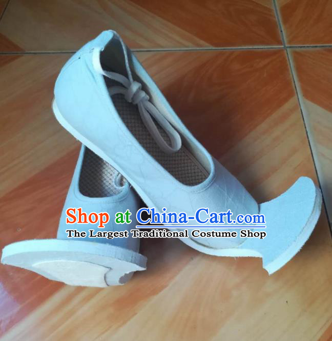 Asian Chinese Traditional Shoes Ancient Han Dynasty Blue Shoes Princess Hanfu Shoes for Women