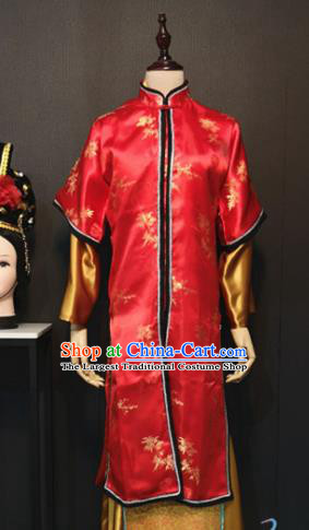 Traditional Chinese Ancient Drama A Dream in Red Mansions Nobility Lady Wang Xifeng Red Costume for Women