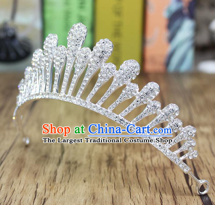 Top Grade Handmade Hair Accessories Bride Classical Crystal Royal Crown for Women
