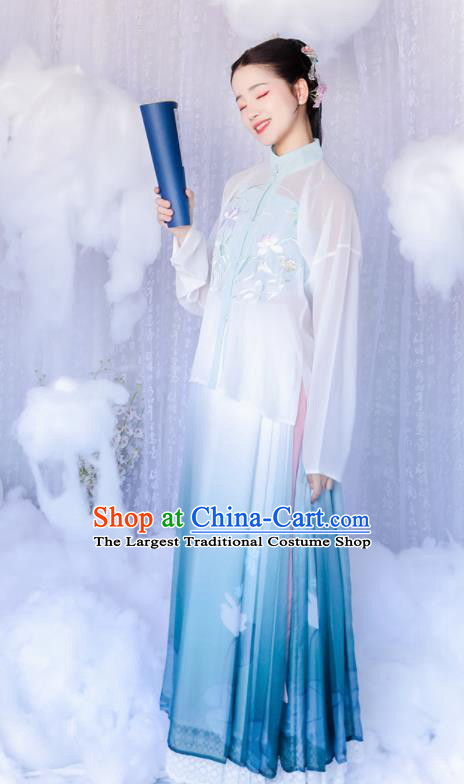 Chinese Ancient Nobility Lady Hanfu Dress Traditional Ming Dynasty Historical Costume for Women