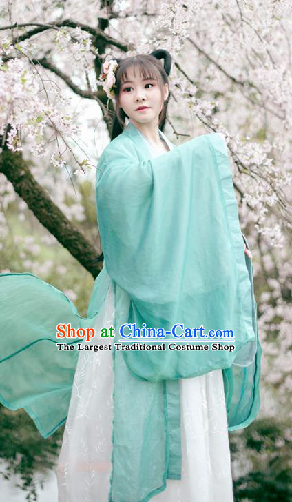 Traditional Chinese Ancient Peri Princess Hanfu Dress Tang Dynasty Palace Lady Historical Costume Complete Set for Women