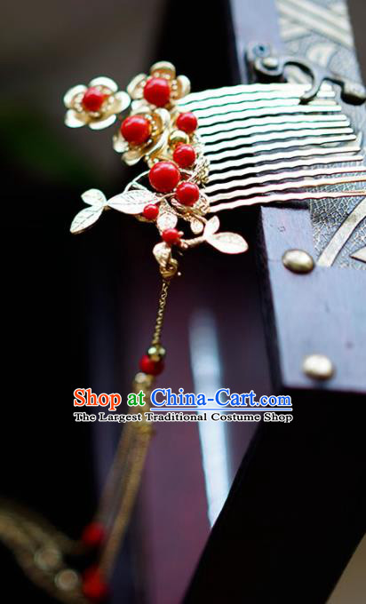 Chinese Ancient Hair Accessories Hairpins Traditional Bride Hanfu Hair Comb for Women