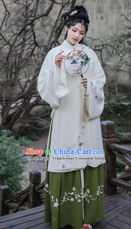 Traditional Chinese Ming Dynasty Replica Costumes Ancient Nobility Lady Embroidered Hanfu Dress for Women