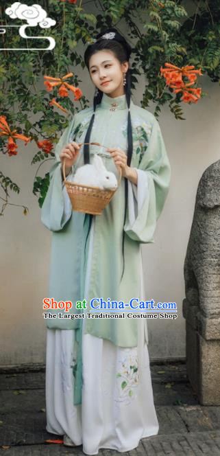 Chinese Traditional Ming Dynasty Replica Costumes Ancient Drama Aristocratic Lady Hanfu Dress for Women