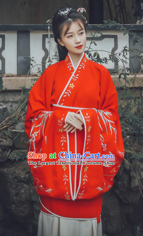 Traditional Chinese Han Dynasty Princess Replica Costumes Ancient Wedding Embroidered Hanfu Dress for Women