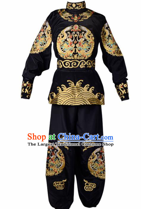 Professional Chinese Beijing Opera Costume Traditional Peking Opera Takefu Black Clothing for Adults