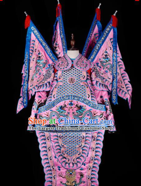 Professional Chinese Beijing Opera Costume Traditional Peking Opera General Pink Clothing for Adults