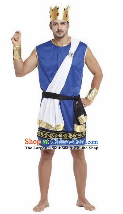 Traditional Greece Costume Ancient Greek Prince Clothing for Men