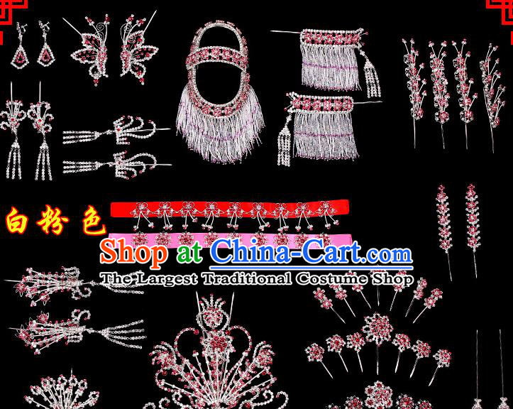 Chinese Beijing Opera Diva Hair Accessories Ancient Princess Hairpins Complete Set for Women