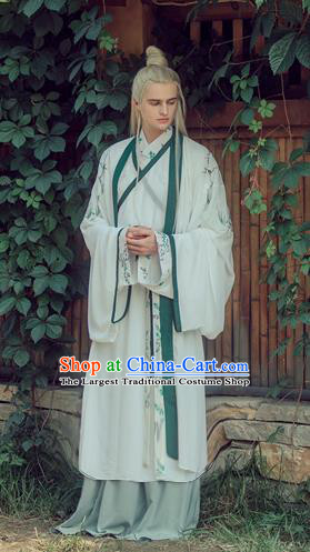 Chinese Traditional Jin Dynasty Replica Costumes Ancient Swordsman Hanfu Clothing for Men