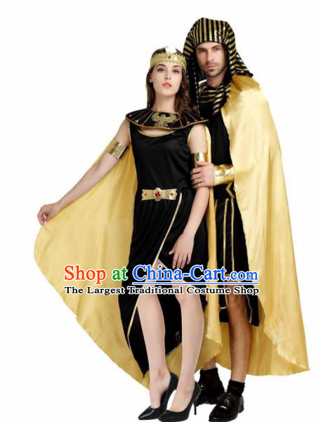 Traditional Egypt Stage Performance Costume Ancient Egypt Queen and King Clothing