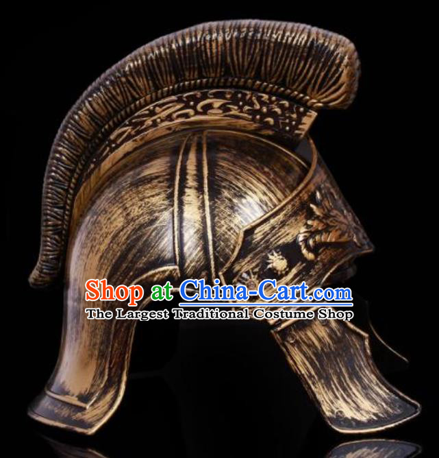 Traditional Roman General Headpiece Ancient Rome Warrior Brass Helmet for Men