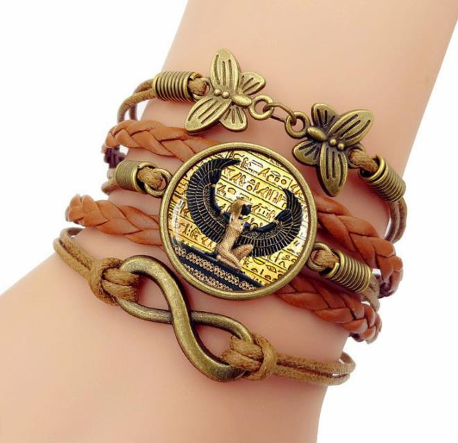 Traditional Egyptian Jewelry Accessories Ancient Egypt Palace Bracelet for Women