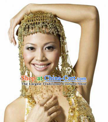 Traditional Egyptian Jewelry Accessories Ancient Egypt Queen Golden Tassel Headdress for Women