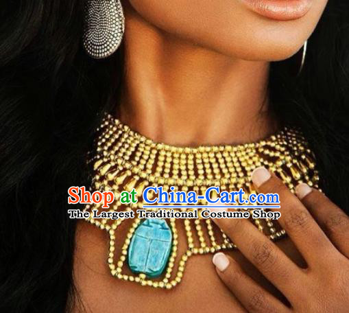 Traditional Egyptian Jewelry Accessories Ancient Egypt Queen Golden Necklace for Women