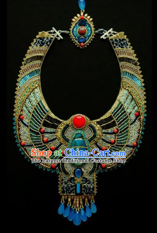Traditional Egyptian Jewelry Accessories Ancient Egypt Palace Queen Necklace for Women