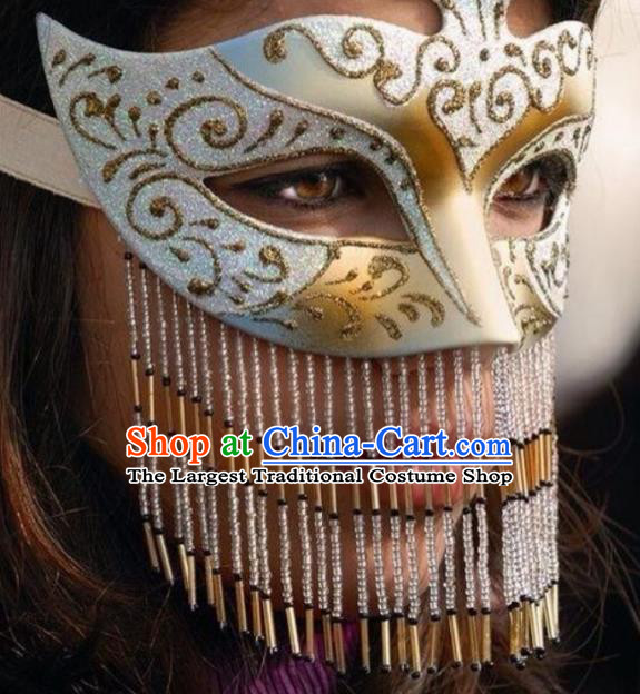 Traditional Egyptian Jewelry Accessories Ancient Egypt Queen Tassel Mask for Women