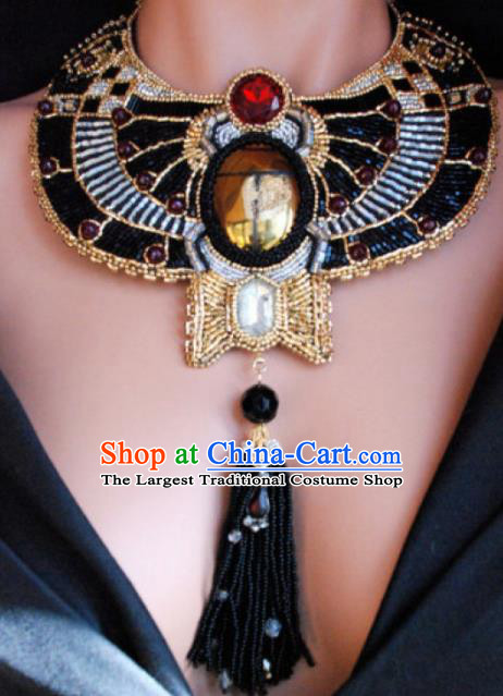 Traditional Egyptian Jewelry Accessories Ancient Egypt Black Beads Necklace for Women