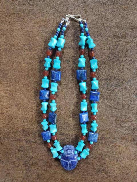 Traditional Egyptian Jewelry Accessories Ancient Egypt Beads Necklace for Women