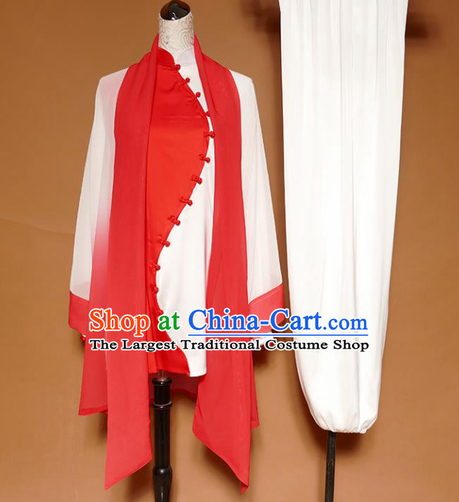 Top Group Kung Fu Costume Martial Arts Gongfu Training Uniform Tai Ji Red Clothing for Women