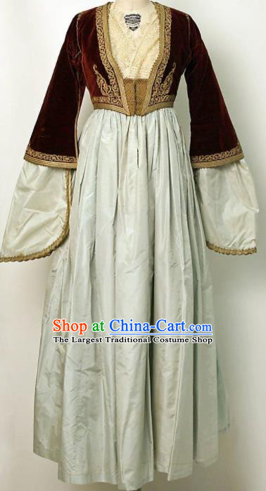 Traditional Greek Festival Costume Ancient Greece Celebration Dress for Women