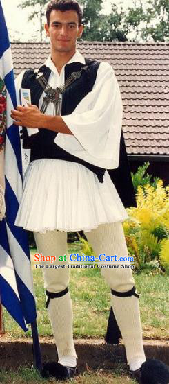 Traditional Greek Farmer Costume Ancient Greece Chlamys Clothing for Men