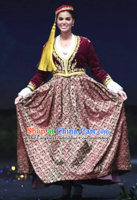 Traditional Greek Court Costume Ancient Greece Dress for Women