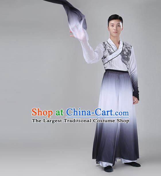 Chinese Traditional National Stage Performance Costume Classical Dance Gradient Clothing for Men
