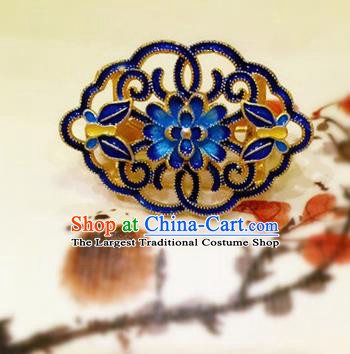 Chinese Traditional Handmade Cloisonne Brooch Classical Accessories Breastpin for Women