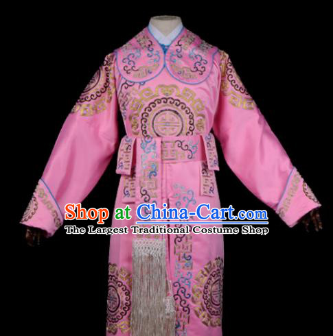 Professional Chinese Beijing Opera Takefu Costume Ancient Swordsmen Pink Clothing for Adults