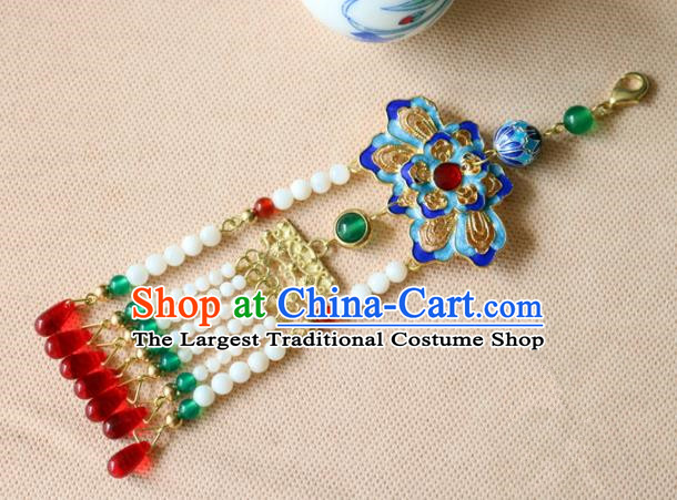 Chinese Traditional Handmade Cloisonne Tassel Brooch Classical Accessories Breastpin for Women