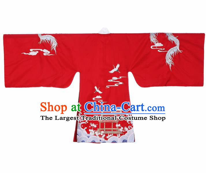 Chinese Ancient Ming Dynasty Imperial Consort Embroidered Hanfu Dress Traditional Historical Costume for Women