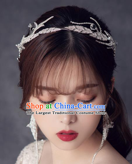 Top Grade Handmade Wedding Royal Crown Bride Zircon Hair Accessories for Women