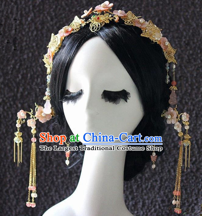 Handmade Chinese Ancient Hairpins Tassel Hair Clasp Traditional Hair Accessories Headdress for Women