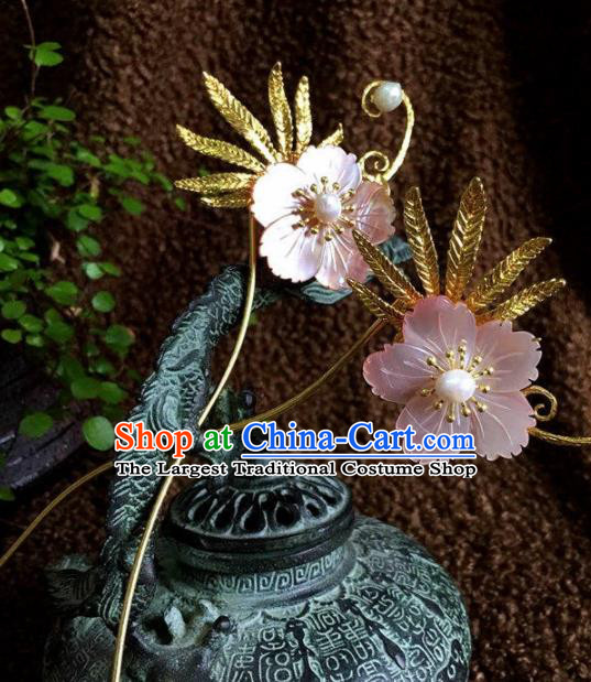Top Grade Chinese Ancient Bride Wedding Pink Flower Hairpins Traditional Hair Accessories Headdress for Women