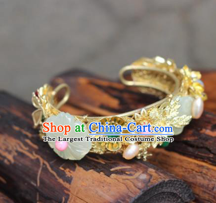 Top Grade Chinese Handmade Hanfu Bracelet Traditional Bride Jewelry Accessories for Women