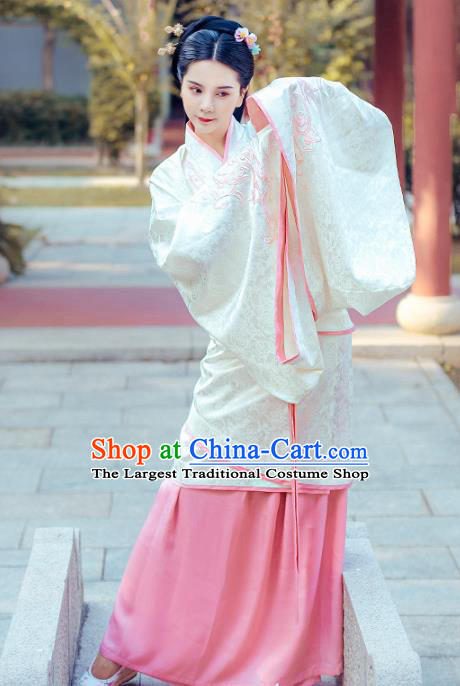 Chinese Traditional Ancient Hanfu Dress Han Dynasty Palace Princess Historical Costume for Women