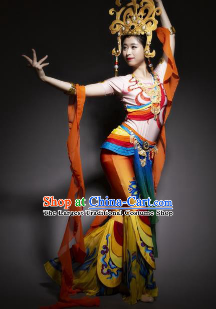 Chinese Traditional Classical Dance Costume Dunhuang Flying Apsaras Dance Clothing for Women