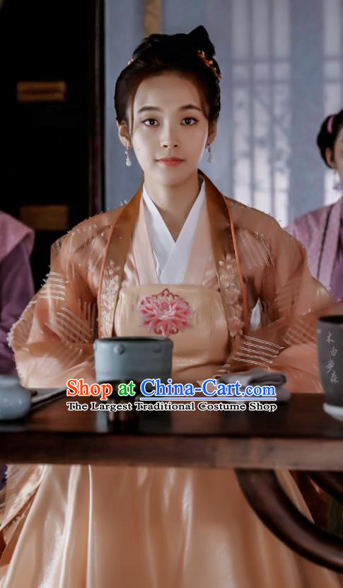 The Story Of MingLan Chinese Ancient Song Dynasty Nobility Lady RuLan Embroidered Historical Costume for Women