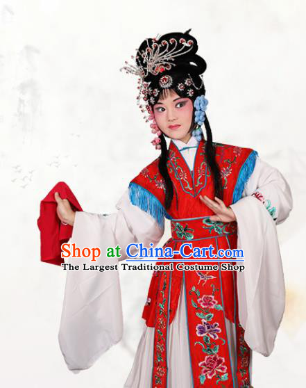 Chinese Traditional Peking Opera Princess Red Dress Classical Beijing Opera Actress Costume for Kids
