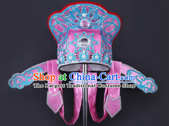 Chinese Traditional Peking Opera Niche Rosy Hat Classical Beijing Opera Number One Scholar Headwear for Men