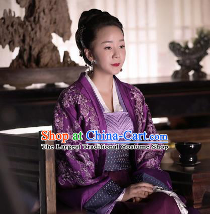 The Story Of MingLan Chinese Drama Ancient Song Dynasty Dowager Duchess Embroidered Historical Costume for Women