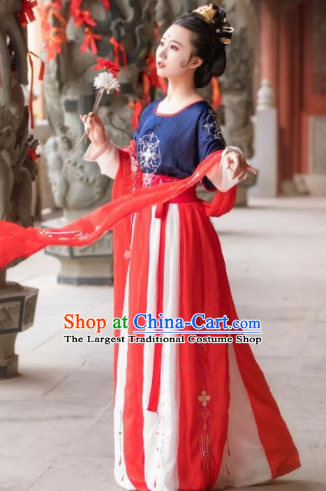 Chinese Traditional Tang Dynasty Princess Hanfu Dress Ancient Drama Palace Lady Costume for Women