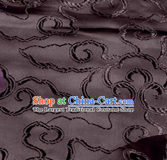 Asian Chinese Traditional Royal Auspicious Clouds Pattern Brown Brocade Fabric Tang Suit Silk Fabric Material