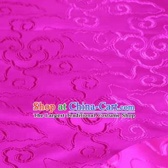 Asian Chinese Traditional Royal Auspicious Clouds Pattern Rosy Brocade Fabric Tang Suit Silk Fabric Material