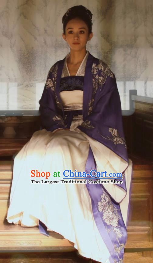 The Story Of MingLan Chinese Song Dynasty Nobility Mistress Historical Costume Ancient Contessa Embroidered Hanfu Dress for Women