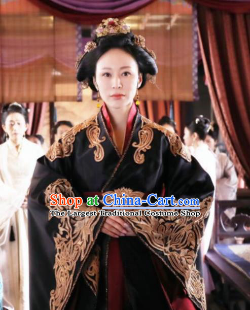 Chinese Drama The Story Of MingLan Ancient Song Dynasty Imperial Consort Embroidered Historical Costume for Women