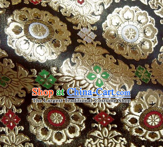 Asian Traditional Classical Pattern Damask Brocade Fabric Japanese Kimono Tapestry Satin Silk Material